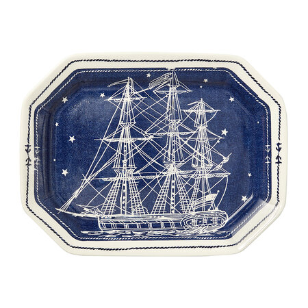 Ralph Lauren Home - Northern Star Rechteckiges Tablett - Indigo