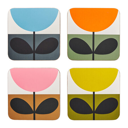 Orla Kiely - Sunflower Coaster - Set of 4 - Multi