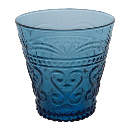 Global Explorer - Ornate Glass Tumblers - Set of 4 - Blue