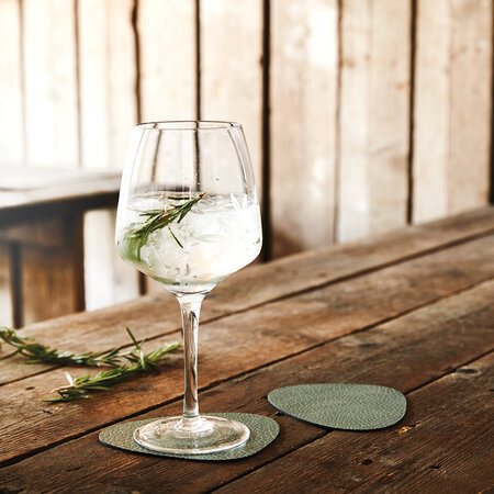 LIND DNA - Hippo Curve Drinks Coaster - Set of 4 - Pastel Green