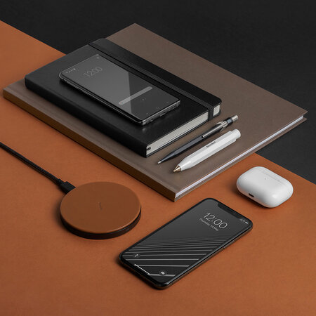 Native Union - Drop Wireless Charger Pad - Tan Leather