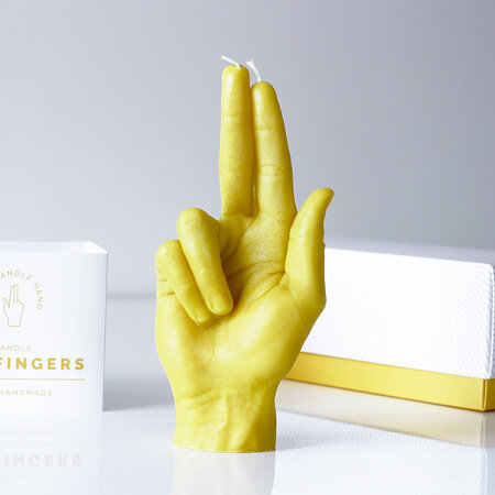 Candle Hands - 'Gun Fingers' Candle - Yellow