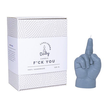 Candle Hands - Baby 'Fcuk' Candle - Grey