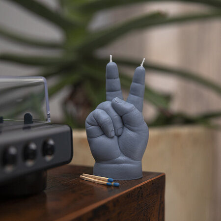 Candle Hands - Baby 'Victory' Candle - Gray
