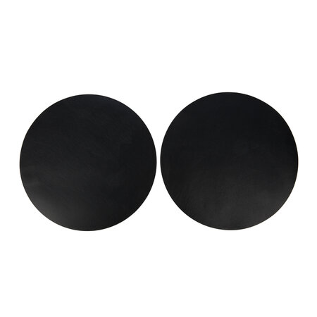 Essentials - Double Sided Leather Placemat - Set of 2 - Black