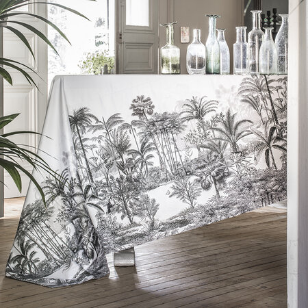 Alexandre Turpault - Amazone Tablecloth - Black & White - 150x300cm
