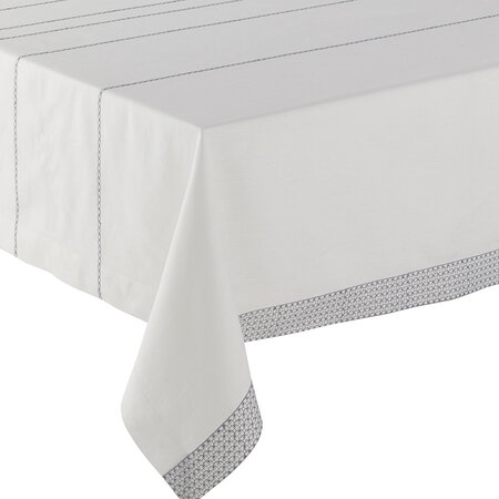 Alexandre Turpault - Couture Tablecloth - White &Silver - 170x320cm
