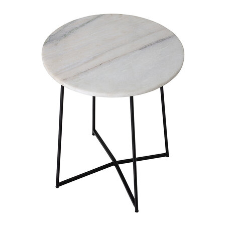 Bloomingville - Table d'Appoint en Marbre Anou - Blanc