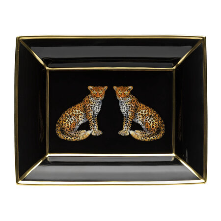 Halcyon Days - Magnificent Wildlife Trinket Tray - Leopard