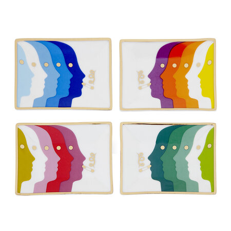 Jonathan Adler - Atlas Petite Trays - Set of 4
