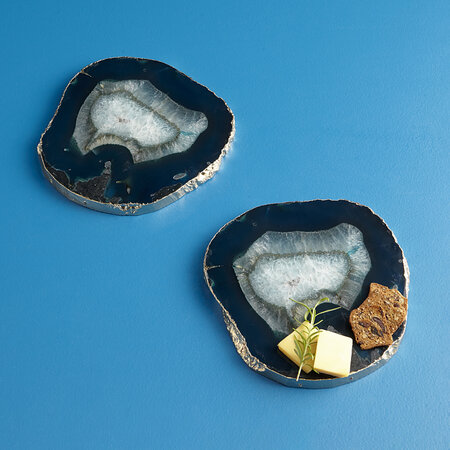Jonathan Adler - Agate Cheese Board - Blue/Gold