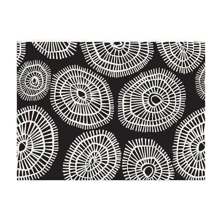 BEAUMONT - Abstract Circular Placemat - 33x45cm