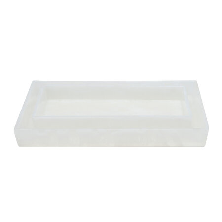 Pigeon & Poodle - Abiko Nested Tray - Set of 2 - Pearl White