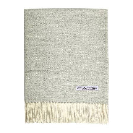 Simple Things - Alpaca Throw Herringbone - Pale