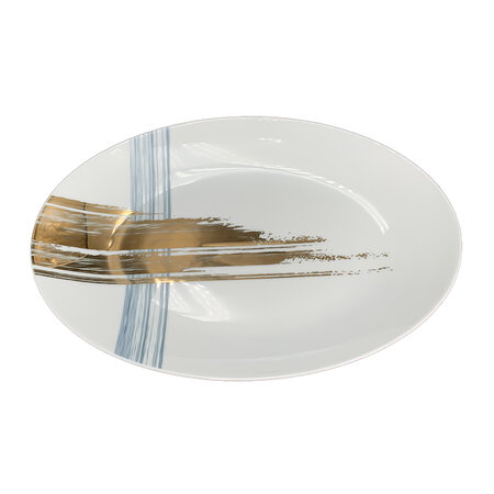 André Fu Living - Artisan Brush Oval Serving Plate
