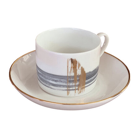 André Fu Living - Artisan Brush Western Teacup With Saucer - Set Of 2