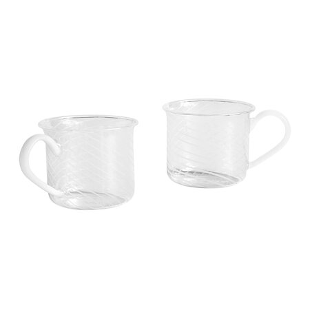 HAY - Borosilicate Glass Cup - Set Of 2 - White