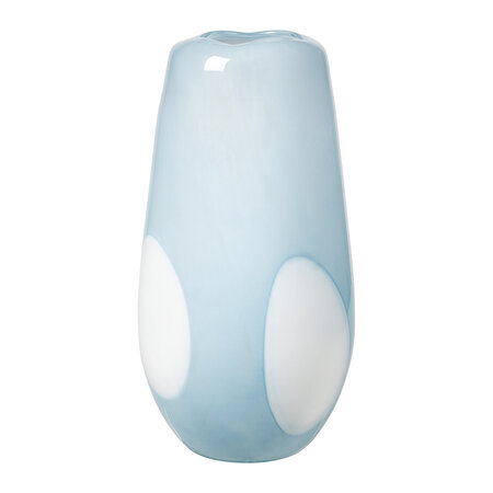 Broste Copenhagen - Ada Dot Vase - Light Blue - Large