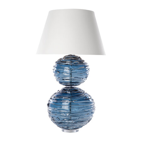 William Yeoward - Alfie Crystal Table Lamp - Midnight - Large