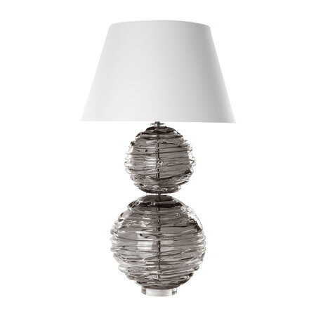 William Yeoward - Lampe de Table en Cristal Alfie - Gris Ardoise - Grand