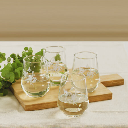 The Just Slate Company - Verres sans Pied Abeille - Lot de 4