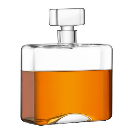LSA International - Cask Whisky Rectangle Decanter - Clear