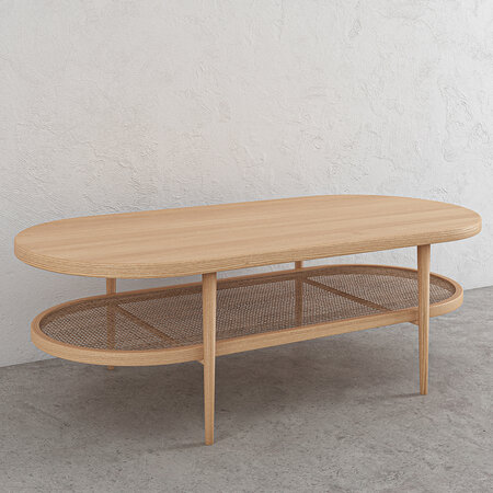 Kam Ce Kam - Aaram Coffee Table - Natural Ash