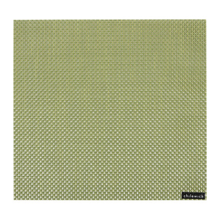 Chilewich - Basketweave Square Placemat - Grass Green