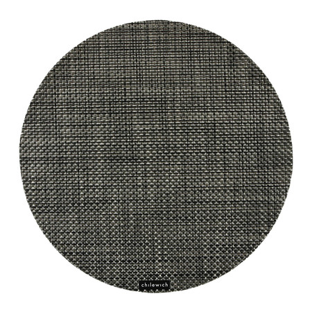 Chilewich - Basketweave Round Placemat - Carbon