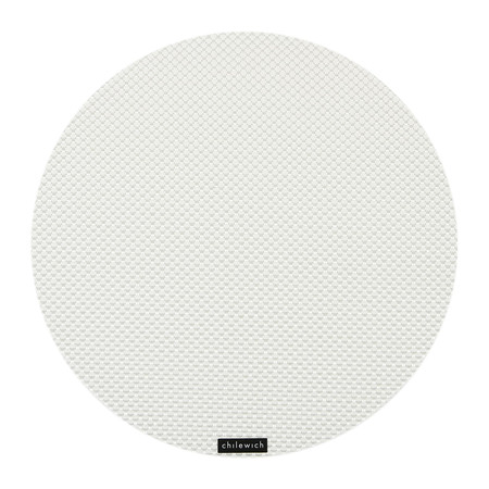 Chilewich - Set de Table Rond Basketweave - Blanc