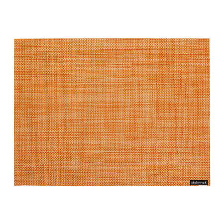 Chilewich - Mini Basketweave Rectangle Placemat - Clementine