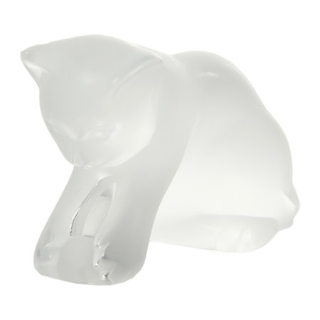 Lalique - Clear Kitten with Ball Figure