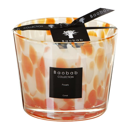 Baobab Collection - Pearls Scented Candle - Coral Pearls - 10cm