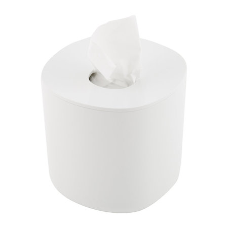 Alessi - Birillo Round Tissue Box - White