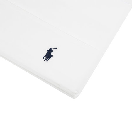 Ralph Lauren Home - Polo Player Flat Sheet - White - King / Super King