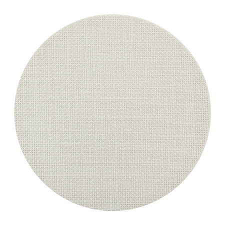 Chilewich - Basketweave Round Placemat - Cement
