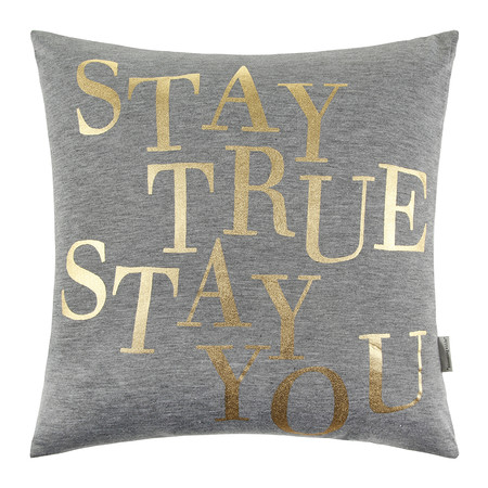 "Bloomingville - ""Stay True, Stay You"" Pillow - 40x40cm"