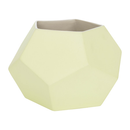 Bloomingville - Ceramic Vase - Lemon/White
