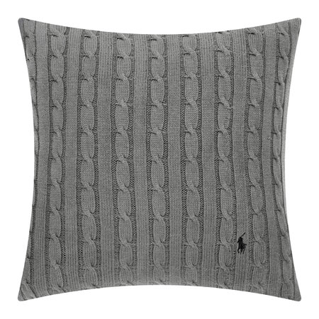 Ralph Lauren Home - Cable Cushion Cover - 45x45cm - Charcoal