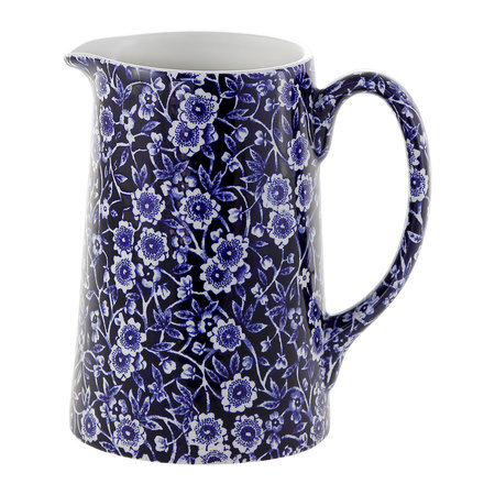 Burleigh - Blue Calico Tankard Pitcher - Large