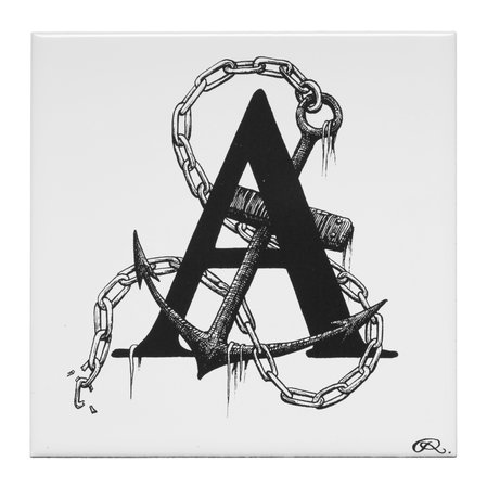 Rory Dobner - Anchor's Away Letter A Tile