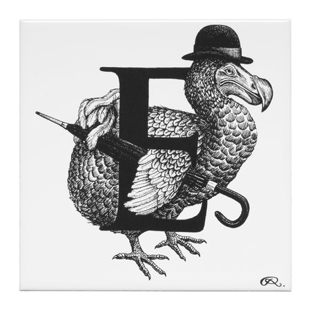 Rory Dobner - Extinct Dodo Letter E Tile