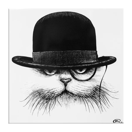 Rory Dobner - Character Tile - Cat Hat Down