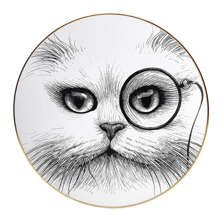 Rory Dobner - Perfect Plates - Cat with Monocle - Large