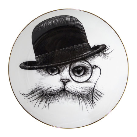 Rory Dobner - Perfect Plates - Cat in Tilted Hat - Small