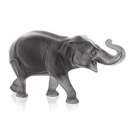 Lalique - Sumatra Limited Edition Elephant Sculpture - Grey