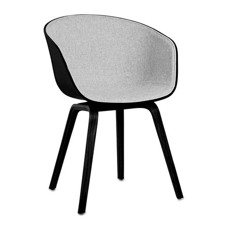 HAY - About A Chair AAC22 with Front Upholstery - Black Shell