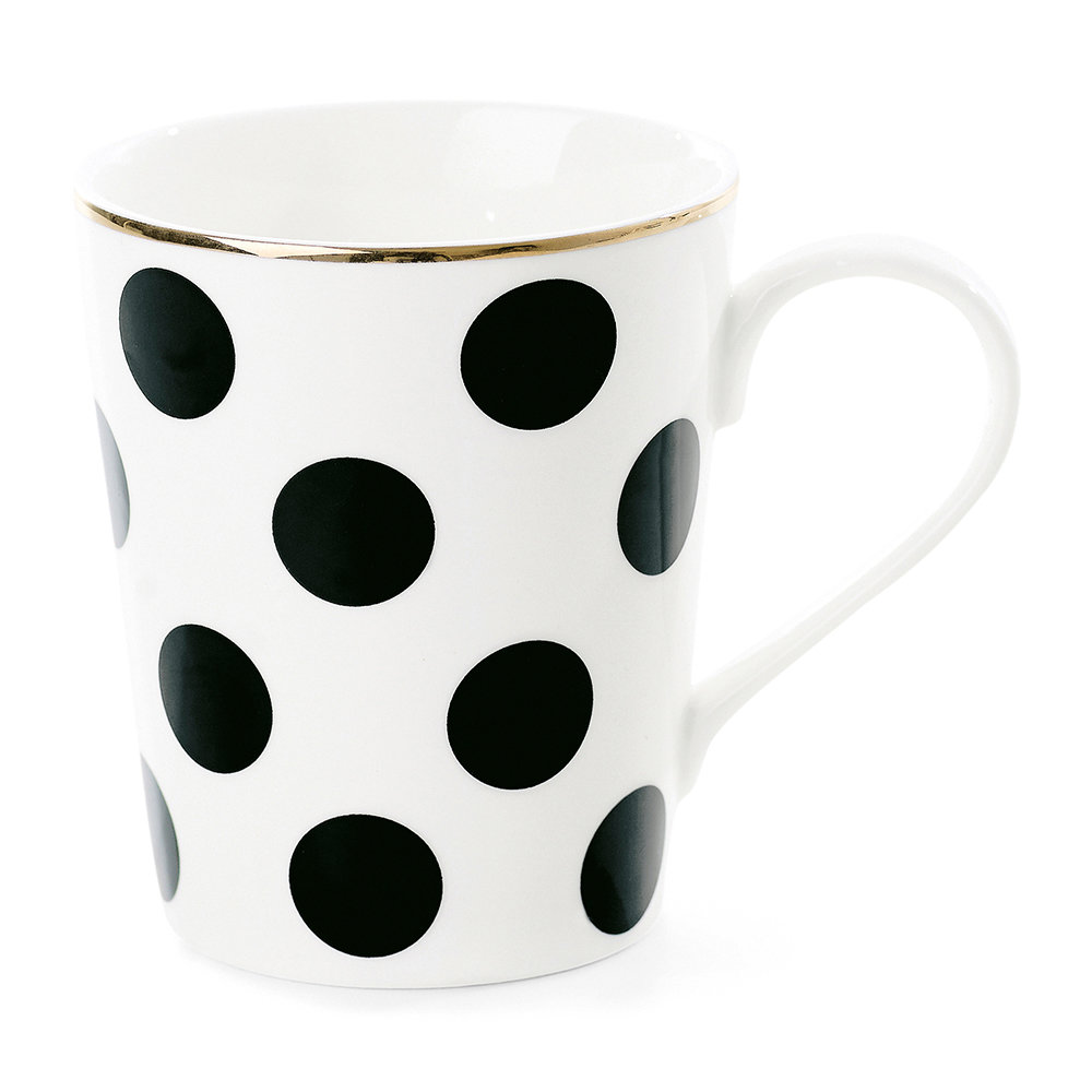 Miss Étoile - Big Black Dots Ceramic Coffee Mug