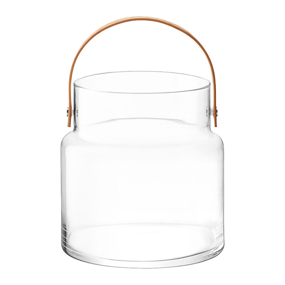 LSA International - Utility Pot & Leather Handle - Clear - 35.5cm
