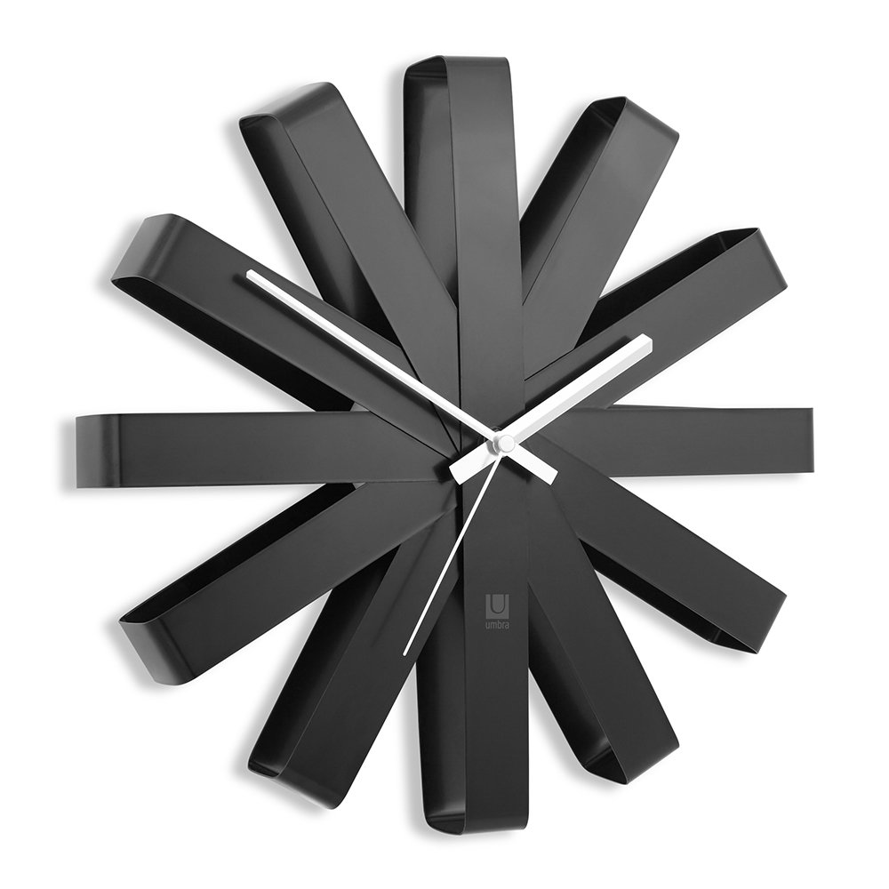 Umbra - Ribbon Wall Clock - Black